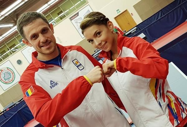 Minsk: Ovidiu Ionescu şi Bernadette Szocs, medalii de argint la tenis de masă în proba de dublu mixt