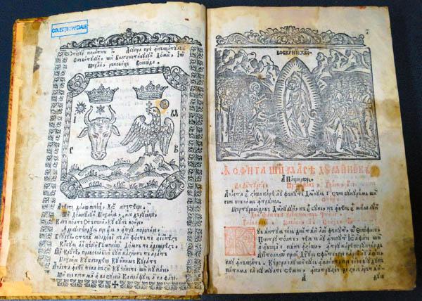 """Cărți rare din patrimoniu național, la Buzău (II) / """"Apostol"""", volum editat în 1743, cea mai veche carte din patrimoniul Bibliotecii Județene"""
