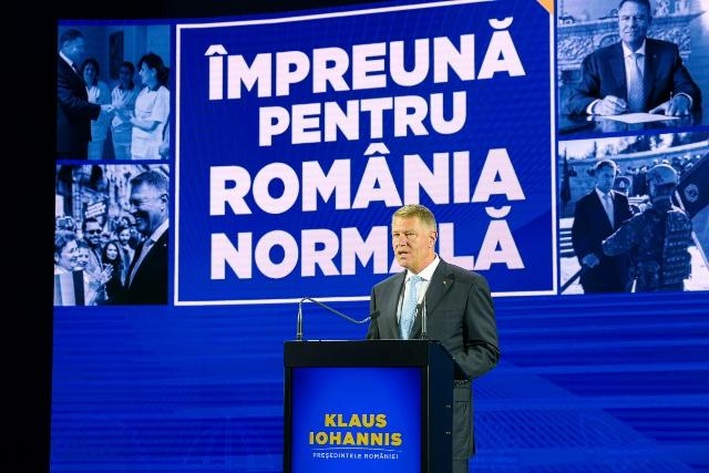 """FOTO I Klaus Iohannis și-a prezentat programul prezidențial """"Împreună pentru România normală"""""""