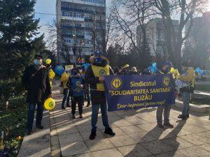 """FOTO   Sindicaliștii din Sănătate, din nou în stradă. Ce a cerut joi ,,Solidaritatea Sanitară"""""""